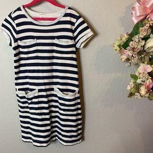 Girl's Crewcuts Striped Jersey Dress
